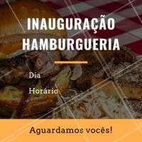 Não perca a inauguração da Hamburgueria XXXXX. Junte os amigos e venha nos conhecer. Esperamos vocês! Endereço: XXXX Telefone: XXXX #hamburguer #hamburgueria #ahazou #loucosporhamburguer #burger