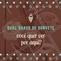 Conta pra gente, quem sabe seu sabor favorito não aparece por aqui! 🍦🍨🍧 #sorveteria #ahazou #sorvete #amosorvete