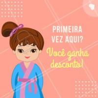Sim, na sua primeira visita aqui você ganha um desconto especial de boas vindas! Aproveite. É só mostrar esse post! #beleza #ahazou #desconto #promoçao