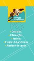 Na nossa clínica temos diversos serviços para o seu pet. Entre em contato com a gente para maiores informações XXXXXX #vet #pet #ahazoupet #veterinario #amigaopet #peludo