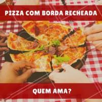 Peça já a sua! 🍕 #pizza #pizzaria #ahazou #bordarecheada #delicia