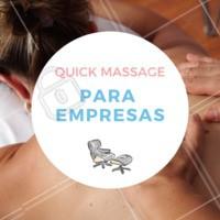 A Quick Massage para empresas possui diversos benefícios. Além de prezar pelo bem-estar dos colaboradores, a técnica ajuda no aumento da produtividade. Entre em contato com a gente para maiores informações. #massagem #quickmassage #empresas #ahazou #saude #bemestar
