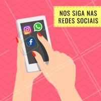 Acompanhe a gente em todas as redes sociais! Curta, compartilhe e participe ❤️ #redessociais #ahazou #whatsapp #Instagram #facebook