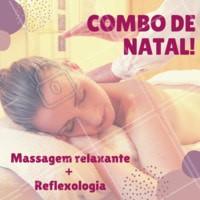 Não perca esse combo natalino! Termine o ano se cuidando ❤️️ #promocao #massagem #ahazouapp #natal #combo #reflexologia