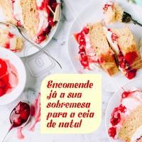 Encomende a sua sobremesa para a ceia de Natal.  Entre em contato ☎ XXXXX #natal #sobremesa #encomendas