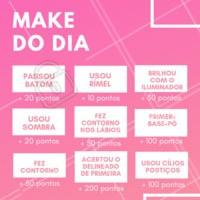 E aí, quantos pontos você fez hoje? 💄 #make #ahazou #maquiagem