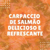 Ideal para o verão! #carpaccio #salmao #ahazouapp #japones #gastronomia