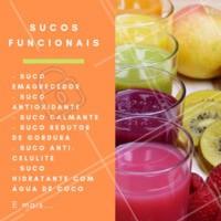 Cada ingrediente dos sucos funcionais são pensados para um beneficío específico para você. Escolha a sua combinação ideal e peça o seu! #sucosfuncionais #sucodetox #ahazou #saude #estetica #detox #dieta