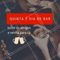 Hoje tem! VEM PRO BAR! #bar #boteco #ahazou #quinta #cerveja
