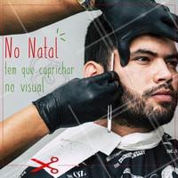 Não vai passar o Natal parecendo o Papai Noel né? Vem dar um trato nesse visual, barbudo! 😉 #natal #ahazou #barbearia