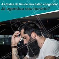 Agende seu horário e vem caprichar no visu pro fim de ano! 🎅  #barba #ahazou #barbearia #fimdeano