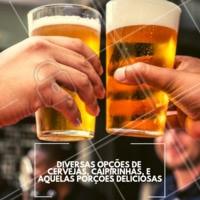 Venha conhecer o nosso espaço e nosso cardápio que é de dar água na boca! #cerveja #caipirinha #ahazou #porcoes #bar #boteco