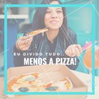 Hahaha concordam? 😂😂 Então peça já a sua! 🍕 #pizza #pizzaria #ahazou #delivery #delicia