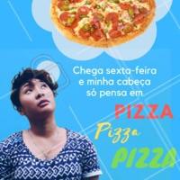 Sexta-feira é dia de P-I-Z-Z-A! 🍕 Peça já a sua! #pizza #pizzaria #ahazou #delivery #delicia #sexta