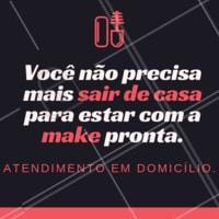 Tem coisa mais fácil do que make feita em casa? Aproveite! #atendimentoemdomicilio #ahazou #maquiagem #make