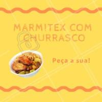 Hora do almoço chegando e por aqui já está tudo pronto só esperando seu pedido! Peça aquele marmitex caprichado com churrasco, e deixe seu almoço ainda mais gostoso. 🕚 Almoço das XXh às XXh #restaurantes #marmitex #ahazou #churrasco #almoco