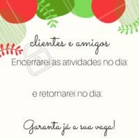 Garanta  seu horário antes do ano acabar! #agenda #ahazou #fimdeano #dezembro