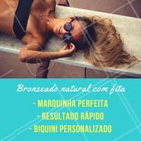 Quem aí já ama o brozeamento com fita? 😍 Agende já o horário do seu! #bronzeamentonatural #ahazou #bronzeamento #esteticacorporal #bronze