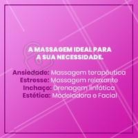 Agende agora a massagem ideal para você! #massagem #cuidados #ahazou #saude #bemestar