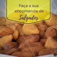 Faça já a sua encomenda ☎ XXXX #salgados #festa #ahazouapp #salgadinhos #encomendas