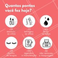 Conta pra gente quantos pontos você fez hoje!!! #ahazou #enquete #queremossaber #borabrincar #make