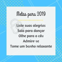Que tal testar essas metas em 2019? ✨❤️️ #metas #2019 #ahazou #anonovo