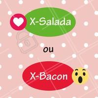 Esse duelo é difícil 😲 E aí, qual o seu favorito? 😍 #xsalada #ahazou #xbacon