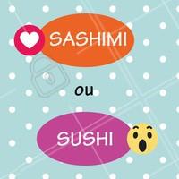 Esse duelo é difícil 😲 E aí, qual o seu favorito? 😍 #sushi #ahazou #sashimi