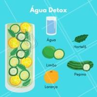 A água detox com todos esses ingredientes trás diversos beneficíos para a sua saúde, experimente e se cuide! #aguadetox #ahazou #saude #estetica #detox #dieta