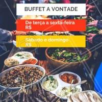 Comida saborosa à vontade por um preço único. Venha nos visitar! #restaurantes #selfservice #ahazou #buffet