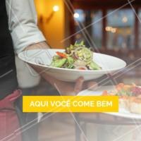 Venha nos visitar, o almoço vai ser a melhor parte do seu dia! #restaurantes #selfservice #ahazou #buffet