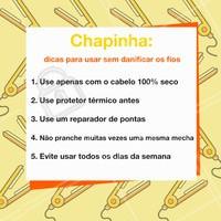 Olha só as dicas pra quem ama usar chapinha mas não quer danificar os fios! 😉  #chapinha #ahazou #cabelo #Prancha