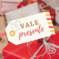 Presenteie quem você ama com os nossos vales presentes! 😍 #valepresente #ahazou #presente