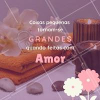 Com amor e por amor. ❤️️ #frases #ahazou #massagem #massoterapia