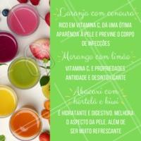 Para não sair da linha, aproveite essa super dica de sucos funcionais 🍍 Abacaxi + hortelã + kiwi 🍓 Morango + limão 🍊 Laranja + cenoura #sucosfuncionais #sucodetox #ahazou #saude #estetica #detox #dieta