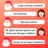 Têm pedidos que nem o papai noel pode realizar 😂 #natal #esteticacorporal #ahazouestetica #drenagem