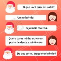 Têm pedidos que nem o papai noel pode realizar 😂 #natal #esteticafacial #ahazouestetica #acne