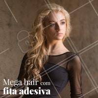 Deseja cabelos longos e fartos? O mega hair é a opção perfeita! O alongamento feito com fita adesiva é menos agressivo para o couro cabeludo, duradouro e cria um efeito lindo! #alongamento #ahazou #megahair #aplique #cabelo