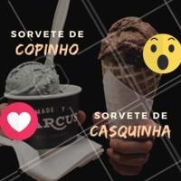 Esse duelo é difícil 😲 E aí, qual o seu favorito? 😍 #sorveteria #ahazou #sorvete