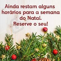 Ainda dá tempo de você brilhar neste natal. Ligue e confira nossa agenda! #ahazou #agenda #natal #beleza