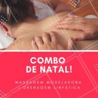 Não perca esse combo natalino! Termine o ano se cuidando ❤️️ #promocao #massagem #ahazouapp #natal #combo