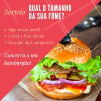 Quer ganhar um hambúrguer na faixa? 🍔 Siga as regras e participe do nosso sorteio! #sorteio #ahazou #hamburguer
