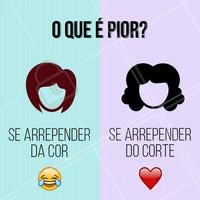E aí? Comenta aí qual é o mais sofrido! #cabelo #ahazou #cabeleireiro