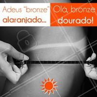 Nosso bronzeamento artificial tem um efeito dourado e natural, pra você ficar com cara de quem passou as férias no Caribe! #bronzeamento #ahazou #bronze #verao