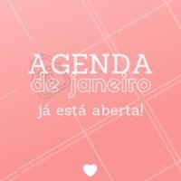 Não perca tempo, agende seu horário para Janeiro! 😍 #beleza #ahazou #agenda #janeiro