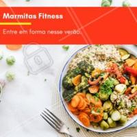 Diversas opções de marmitas saudáveis e muito saborosas para você entrar em forma nesse verão. Comece agora! #marmitas #fitness #ahazou #verao #dieta #comidasaudavel