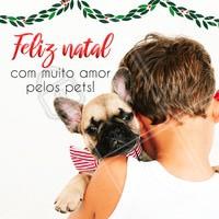 Desejamos um Feliz Natal, repleto de amor para você e seus pets! 💖🎅✨ #pet #ahazoupet #natal