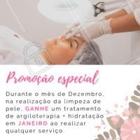 Ao realizar uma limpeza de pele em nosso espaço, você ganha o procedimento de argiloterapia + hidratação de presente! Aproveite! #esteticafacial #ahazouestetica #limpezadepele #promoçao