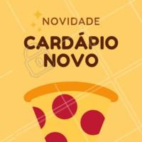 Tem novidades no cardápio da XXXXXX e você tem que conferir! #novidades #cardapio #ahazou #pizza #pizzaria #rodizio