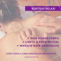 Você merece relaxar! ✨💆 Siga as regras e participe do nosso sorteio! #sorteio #ahazou #massagem